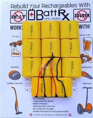 discontinued dewalt 24v nicad rechargeable battery pack rebuild kit
